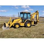 Caterpillar 420D 4 x 4 Extended Backhoe w/ Enclosed Cab, AC, 3881 Hours, s/n CAT0420DEFDP08103