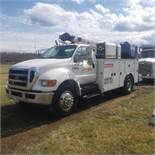 2007 Ford F750 Mechanic's Crane Truck, Cat C7 ACERT Diesel, Auto, 13 ft. IMF Dominator Body