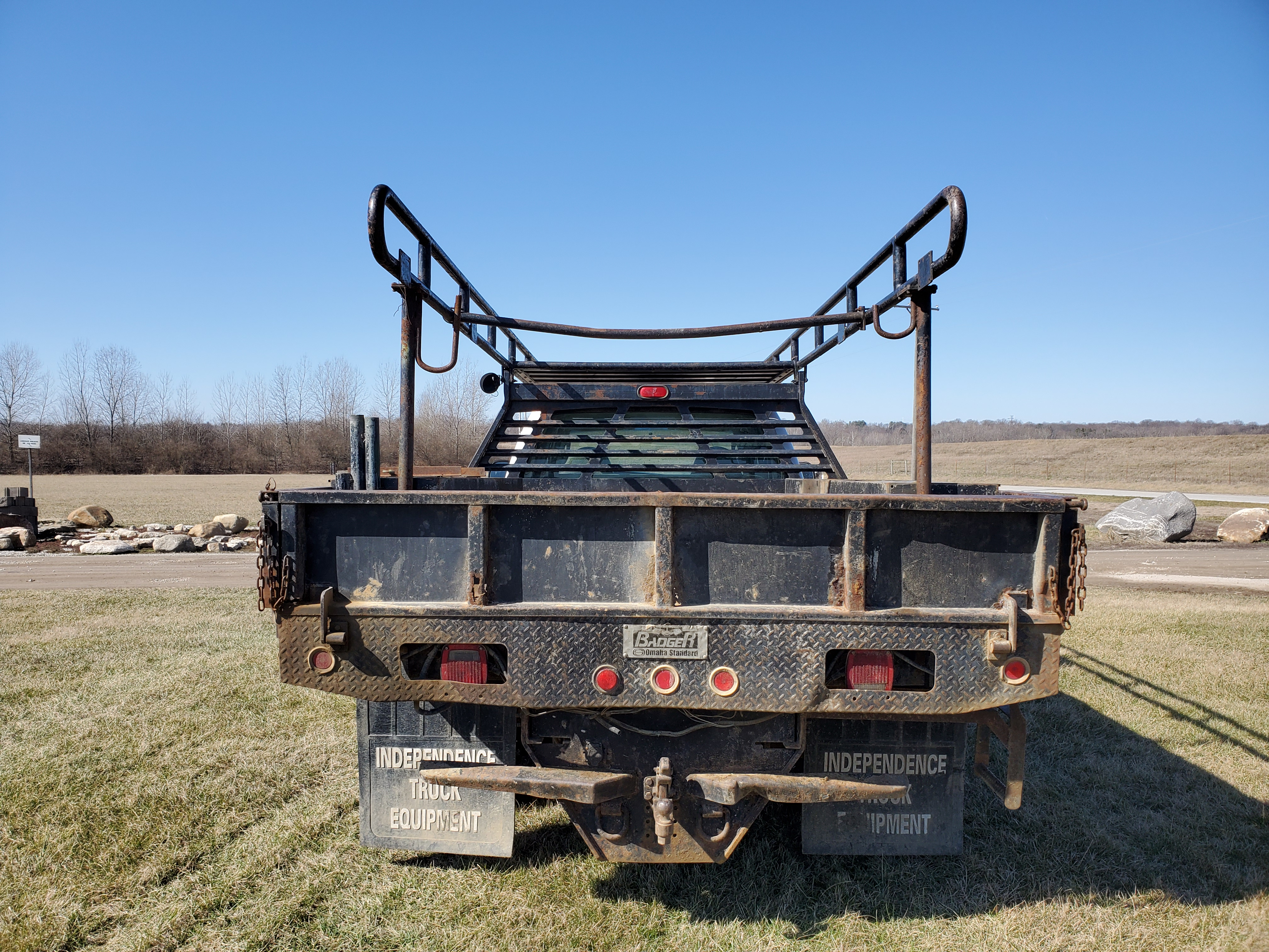 2003 F550 Ford Super Duty Pickup, Automatic, 7.3 Power Stroke Diesel, 8' Foot Omaha Flatbed - Image 8 of 18
