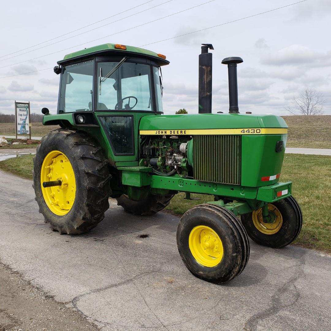 John Deere Model 4430 H Tractor w/ Enclosed Cab, 7520 Hours, s/n 030228R