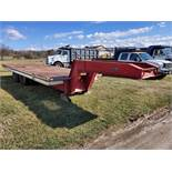 Miller Tilt Top Trailer Model OTG, s/n 8816, 22 ft. Long x 8 ft. Wide, Tandem Axle w/ Dual Wheels