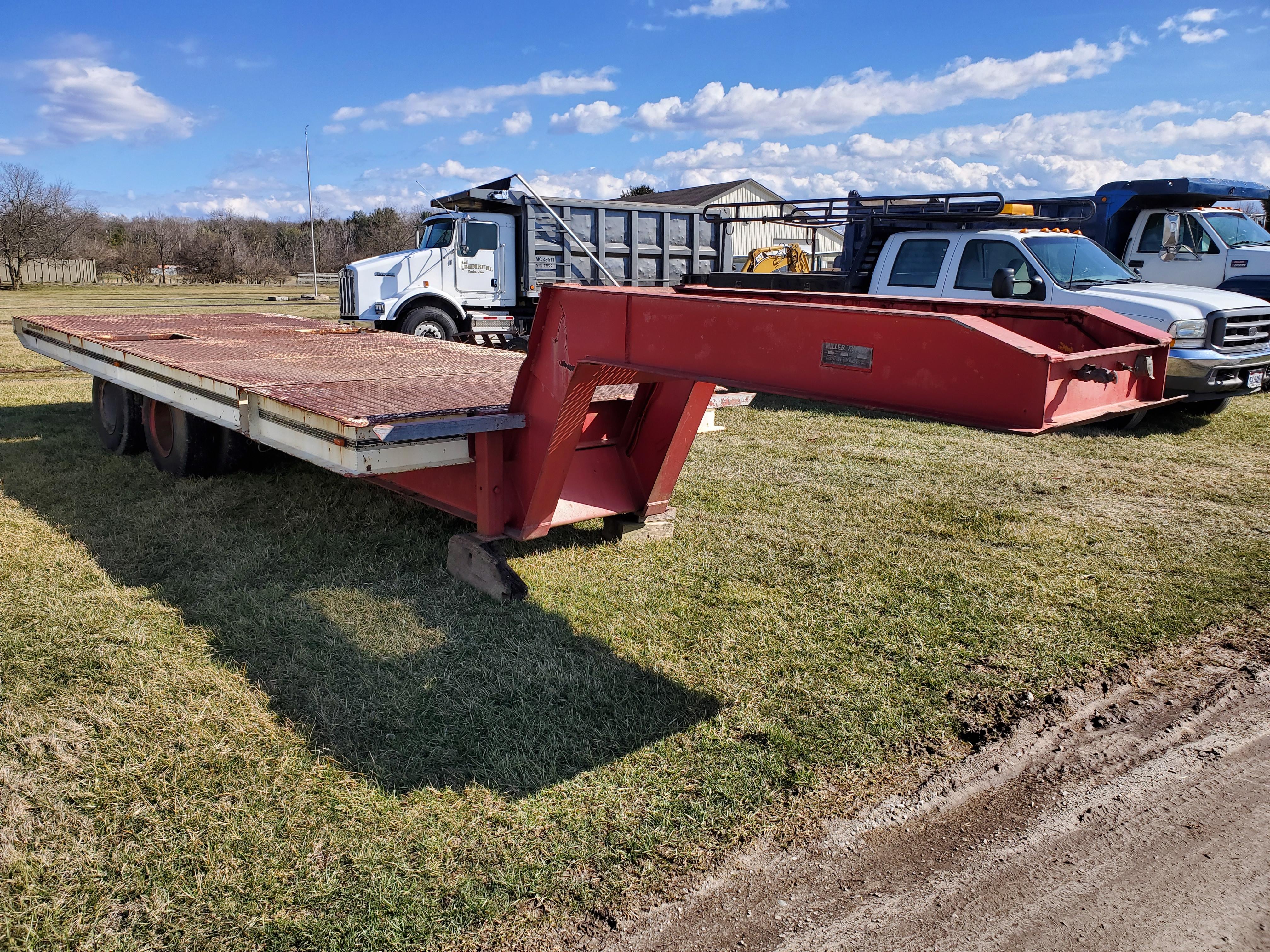 Miller Tilt Top Trailer Model OTG, s/n 8816, 22 ft. Long x 8 ft. Wide, Tandem Axle w/ Dual Wheels