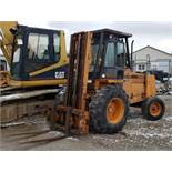 "Case 585C Forklift, 6,000 lb. Cap., 2-Stage Mast,Side Shift, 6,536 Hours, Enclosed Cab, 48"" Forks"