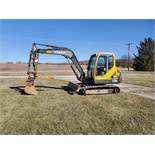 2005 Volvo EC55B Midi Excavator w/Thumb and Aux. Hydraulics New Tracks, 6,746 Hours, s/n EC55BY33192