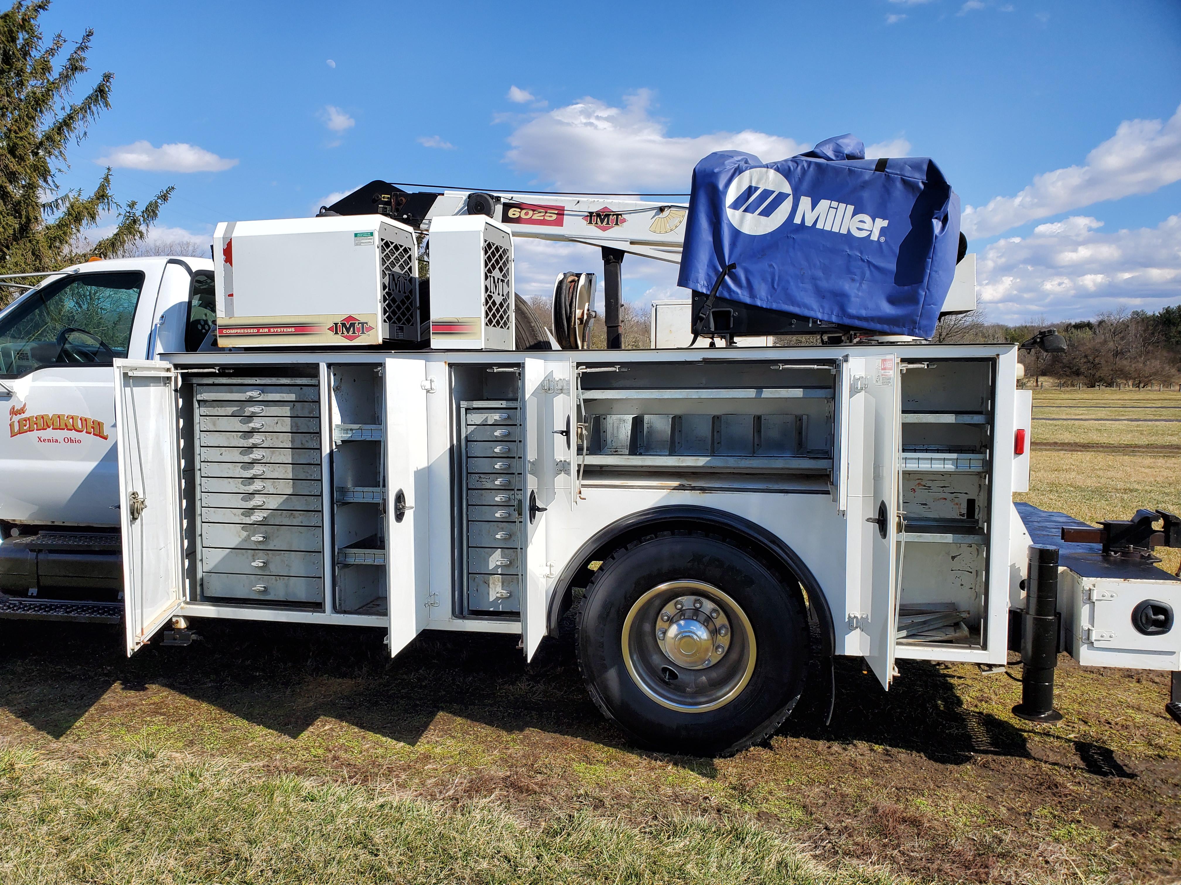 2007 Ford F750 Mechanic's Crane Truck, Cat C7 ACERT Diesel, Auto, 13 ft. IMF Dominator Body - Image 8 of 33