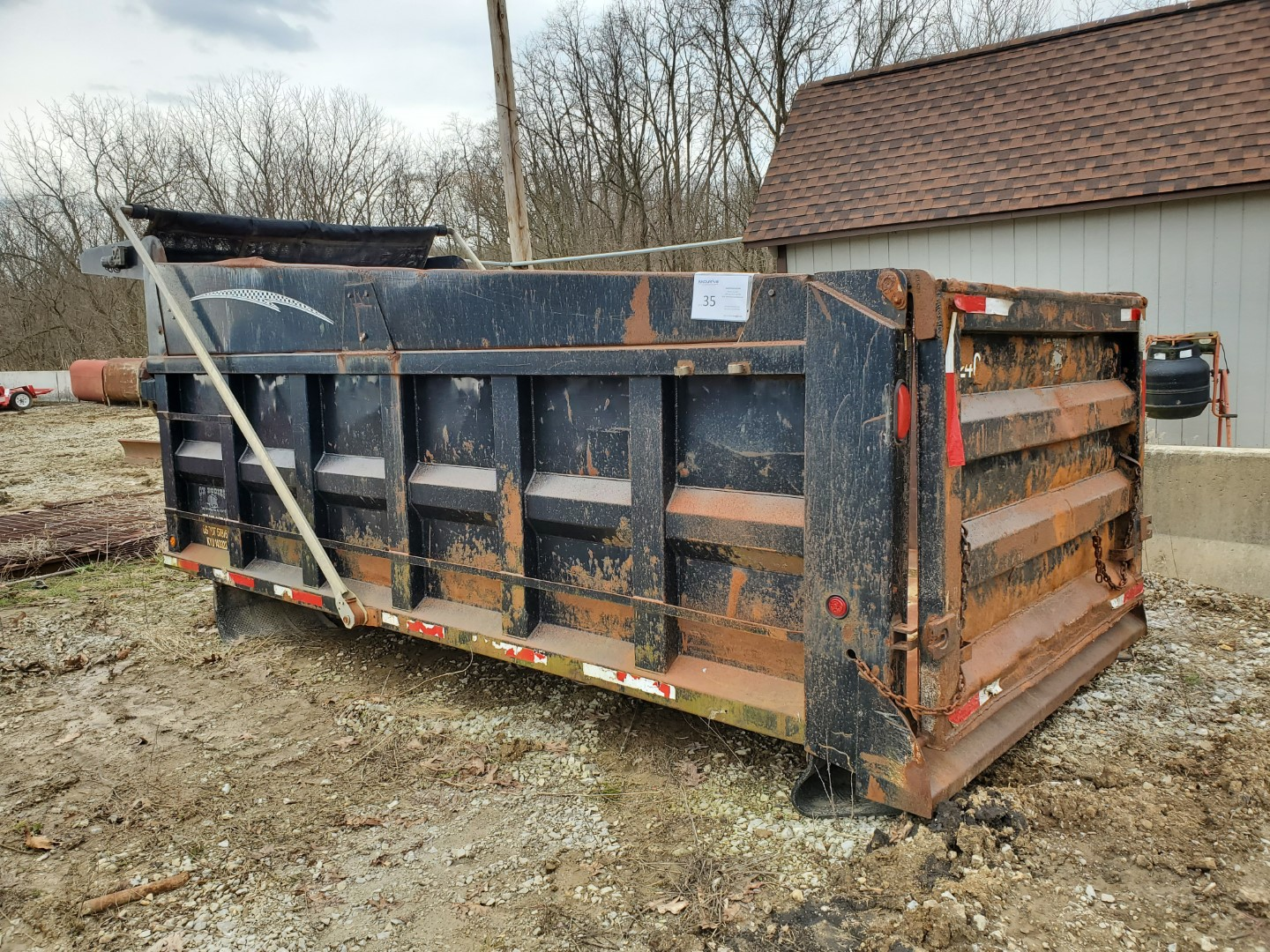 Oxbodies 16 ft, 17-19 Yard Dump Bed w/ Tarp System, Loading Fee, $350