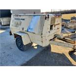 Ingersoll Rand Model P-160A-W-JD Pull Behind Air Compressor, John Deere 3179D Diesel 1731 Hours