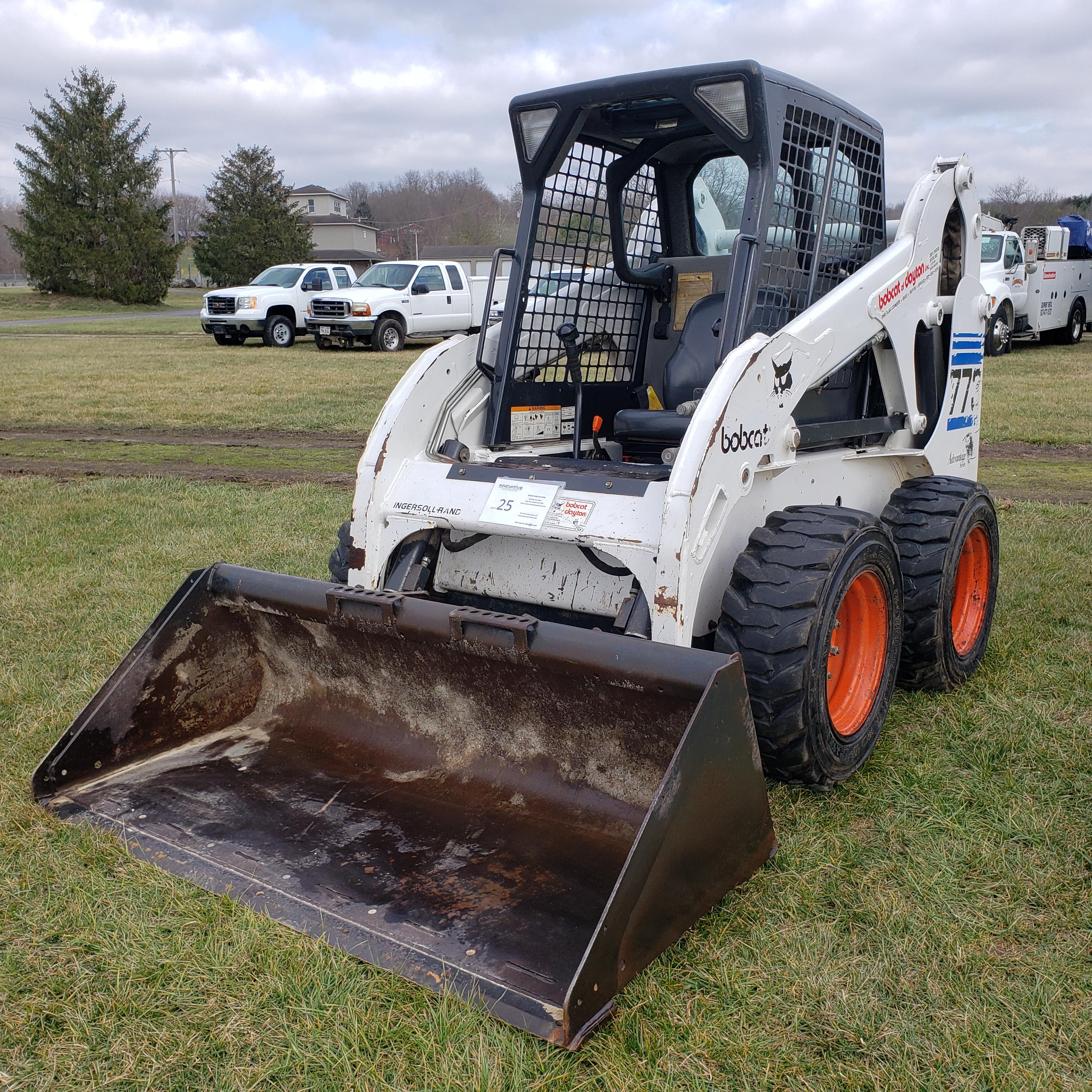 Lot 25 - Bobcat Model 773 Skid Steer, s/n 517615228, 1208 Hours, 78 in GP Bucket, Owner Operated Machine
