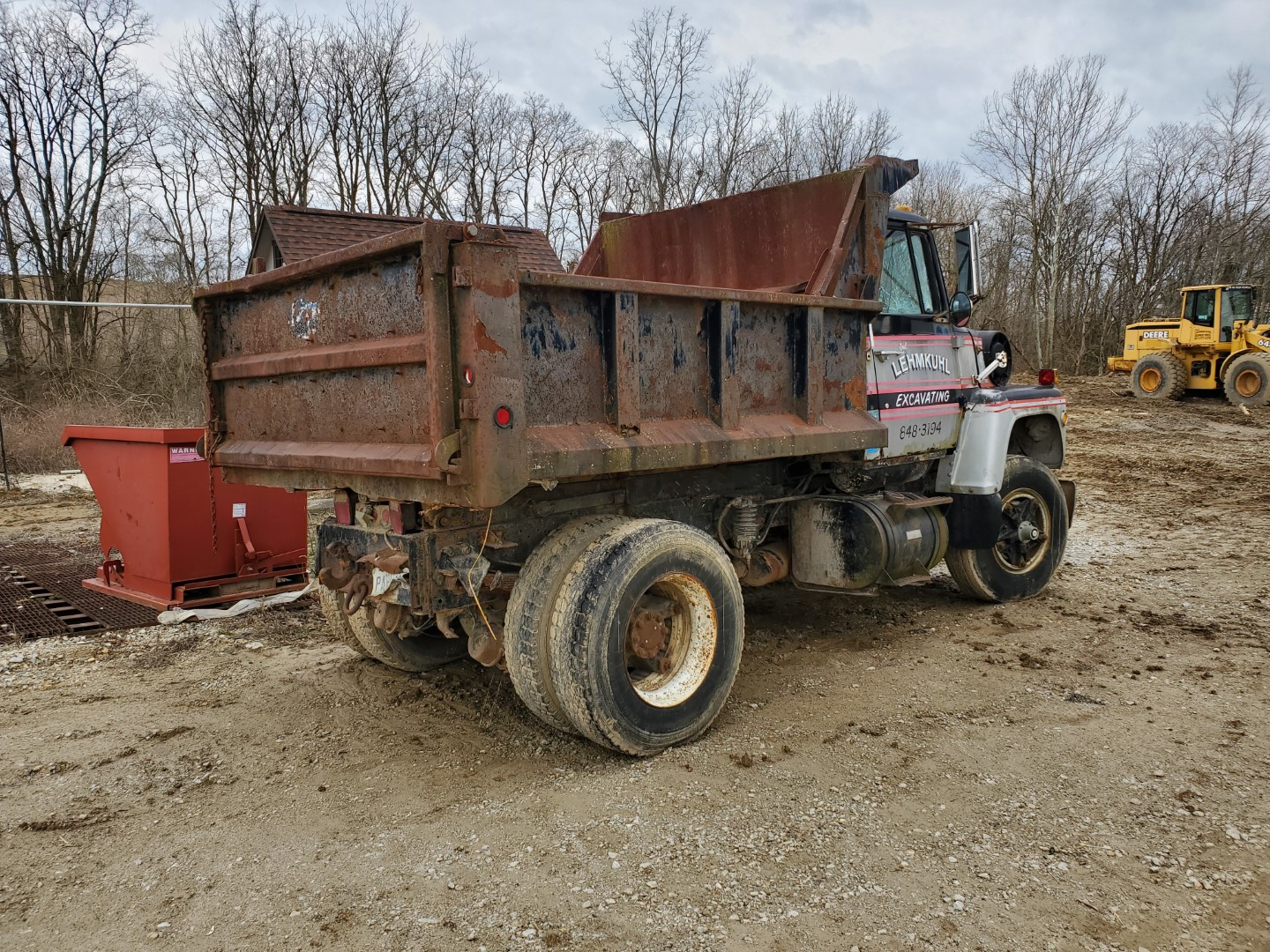1976 Ford 8000 Single Axle Dump Truck, 9 ft Dump Bed, Manual Transmission, 2-Speed Axle, 86,500 Mile - Image 3 of 6