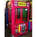 LONDON PLUSH BUS ICE CLAW CRANE MACHINE