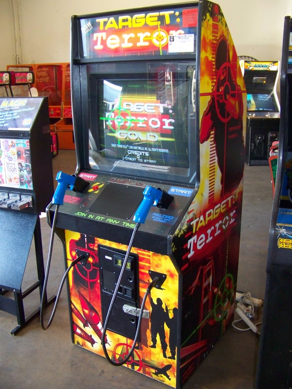 Lot 48 - TARGET TERROR GOLD SHOOTER ARCADE GAME DEDICATED