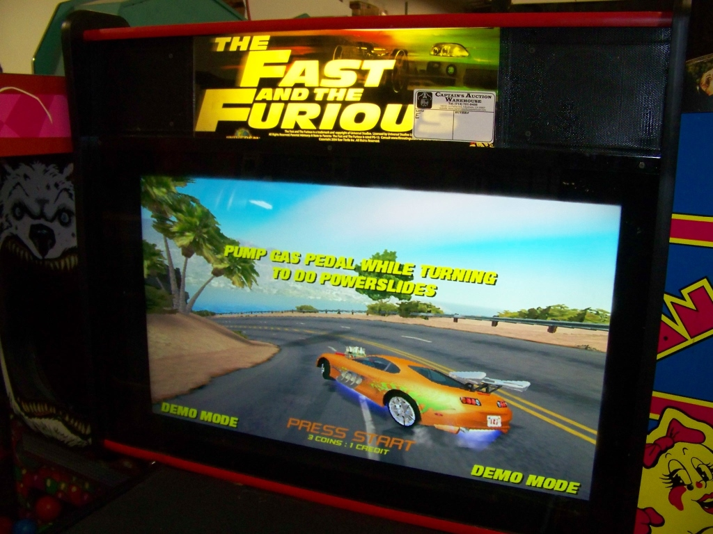 """FAST AND FURIOUS DX SITDOWN DRIVER 35"""" LCD PANEL - Image 2 of 6"""