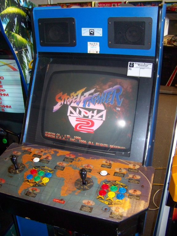 Street Fighter Alpha 2 Fighting Arcade Game Item Is In Used