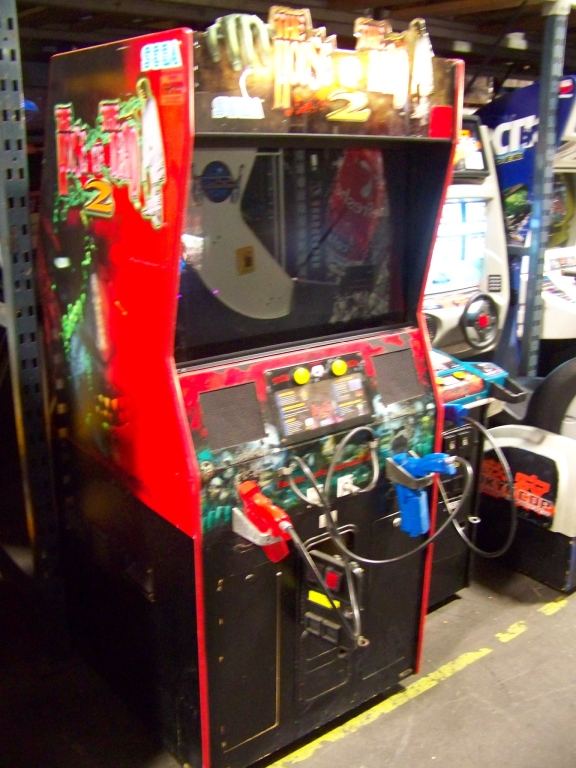 Lot 21 - HOUSE OF THE DEAD 2 ZOMBIE SHOOTER ARCADE GAME