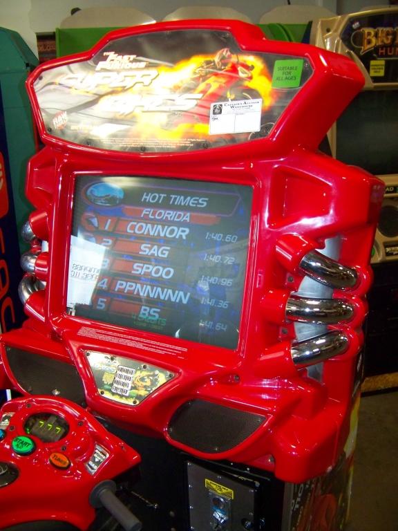 Lot 15 - FAST & FURIOUS SUPER BIKES SITDOWN ARCADE GAME