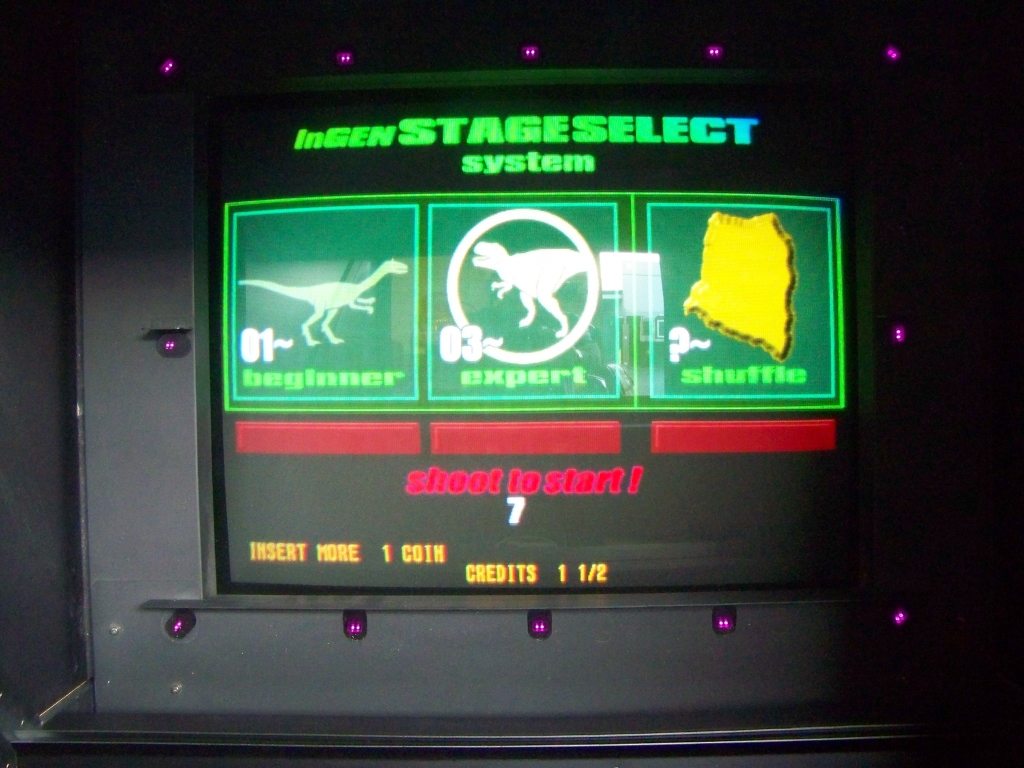 Lot 20 - LOST WORLD JURASSIC PARK SEGA SHOOTER ARCADE GAME