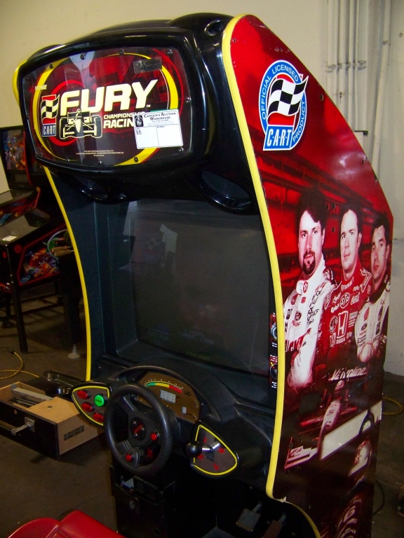Lot 16 - CART FURY RACING SITDOWN ARCADE GAME MIDWAY