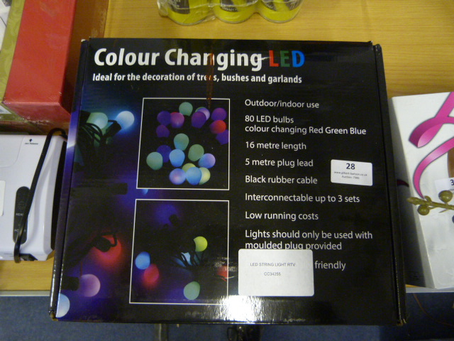 Lot 28 - *LED String Light RTV