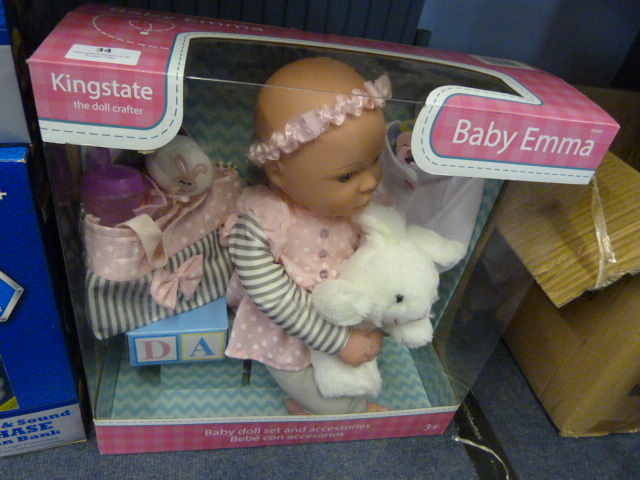 Lot 34 - *Baby Emma Doll Set with Accessories