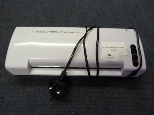 Lot 24 - *A4 Premium Fast Warm-up Laminator