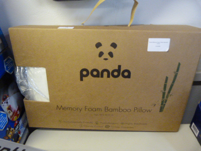 Lot 58 - *Panda Memory Foam Pillow Bamboo Cover