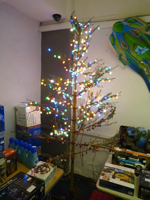 Lot 42 - *8ft Pre Lit LED Winterberry Christmas Tree