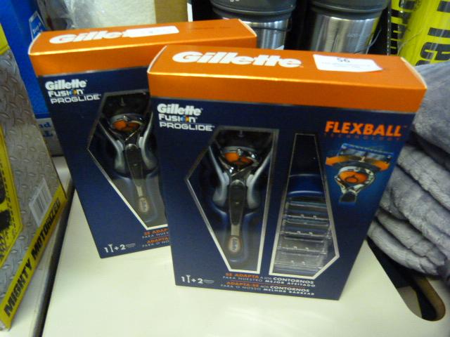 Lot 56 - *Two Gillette Fusion Proline Glide Flexball Shaving Sets