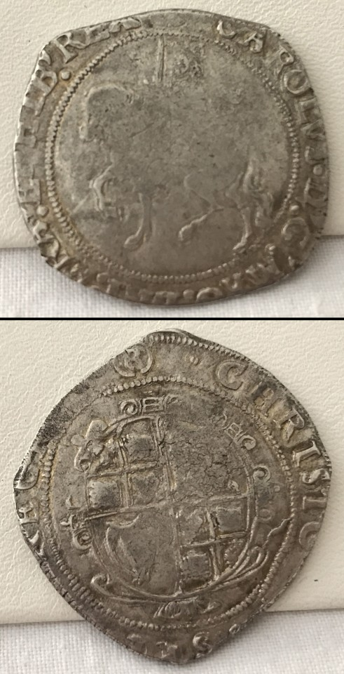 Lot 63 - An English Charles I silver half crown.