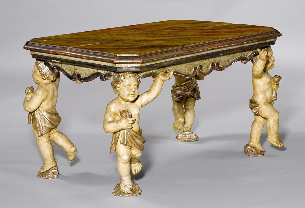 Salontisch barock stil italien ende 19 jh holz for Holz salontisch