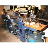 Stahl Folding Machine with Right Angle Attachment, Air Feed, Machine# T49/4-47/4-F.2