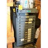 13-Drawer Gray Metal Cabinet
