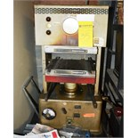 Hydraulic Rubber Stamp Press with Heating Elements