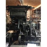 Linotype Machine with 33 Assorted Magazines