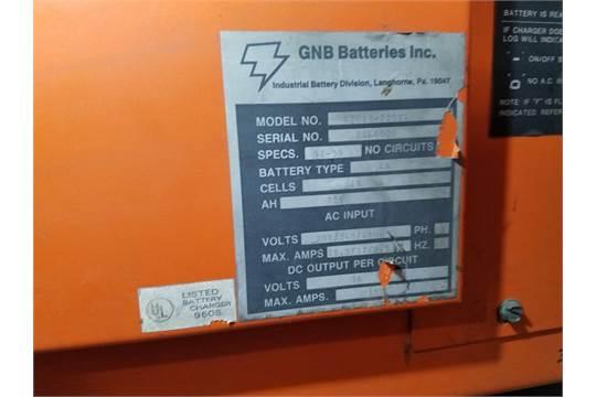 GNB Industrial Battery Charger, 36 Volt, M# GTC18-725T1, S/N