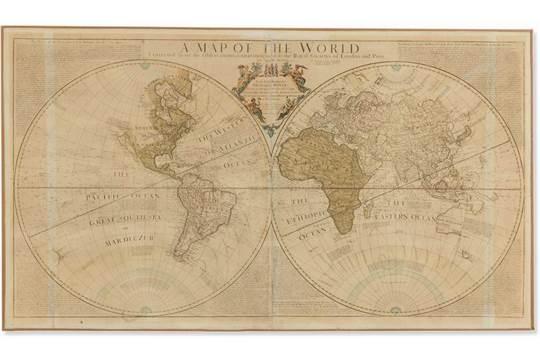 Rare Engraved World Map A Map Of The World J Senex C 1730 A