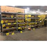 (4) SECTIONS OF SHELVING - LATE DELIVERY CAN BE PICKED UP ON MAY 6