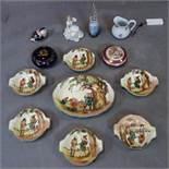 A collection of 20th century porcelain and ceramics to include a Royal doulton figure 'summers day',