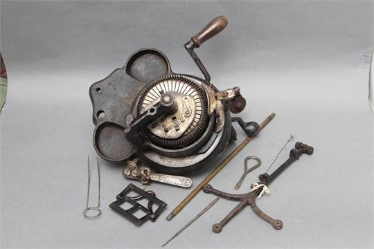 An Imperial Circular Sock Knitting Machine Incomplete With Some
