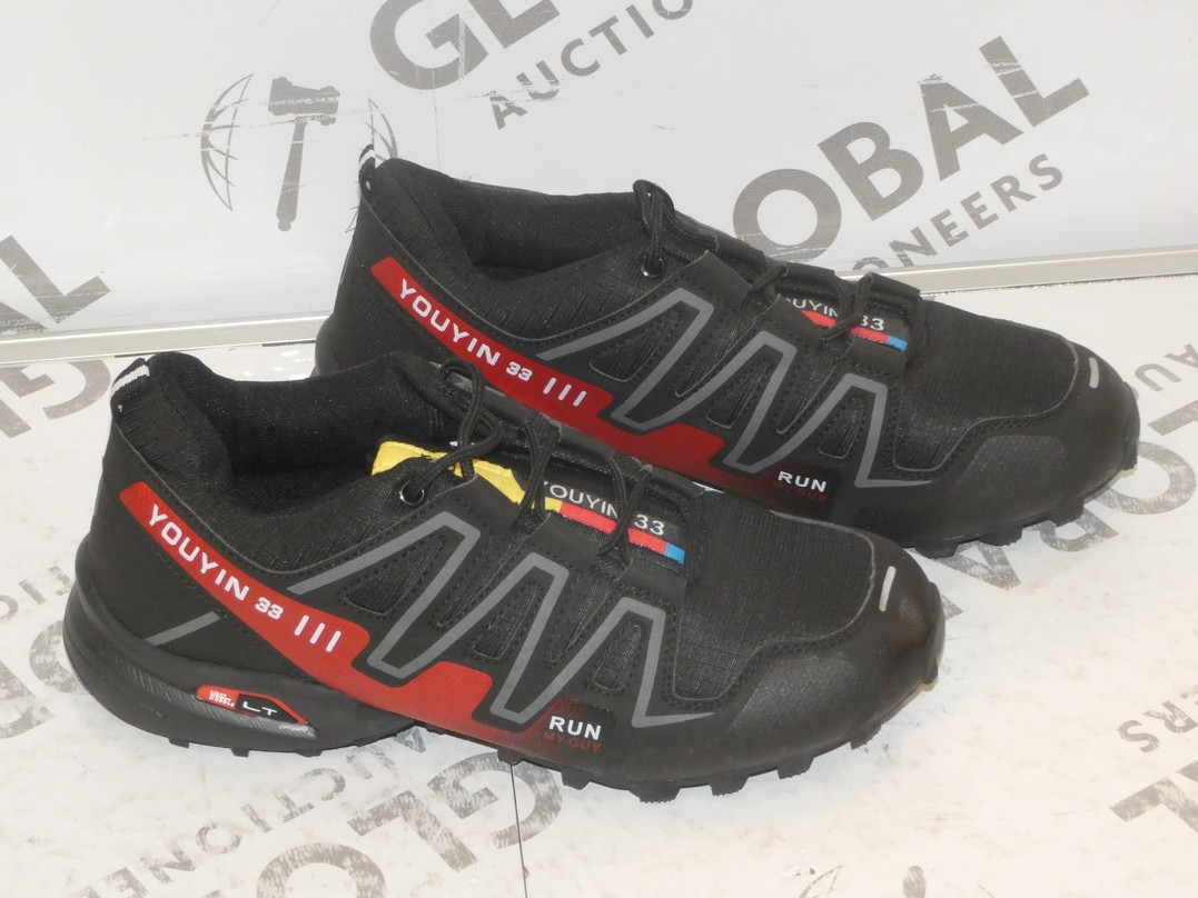 Lot 8 - Lot to Contain 2 Pairs of Run My Guy Light Weight Gents Designer Runner Trainers in Sizes EU41 and