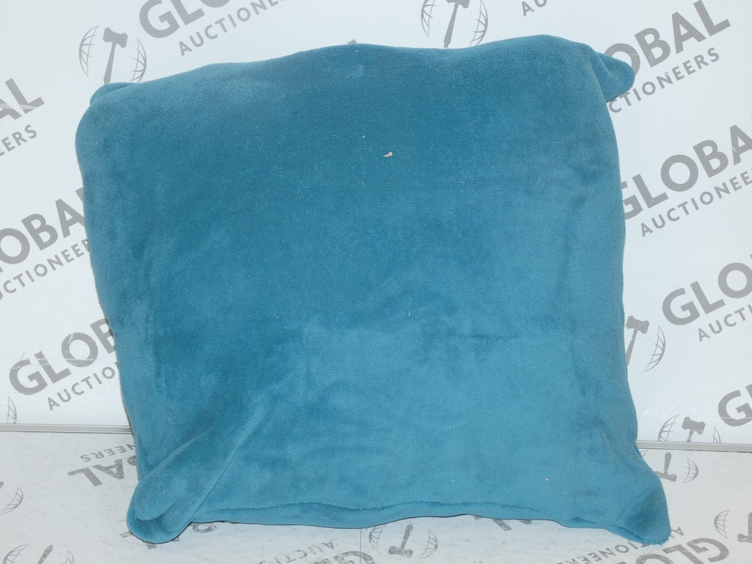 Lot 65 - Lot to Contain 2 55 x 55cm Teal Blue Designer Scatter Cushions RRP £50 (11173)