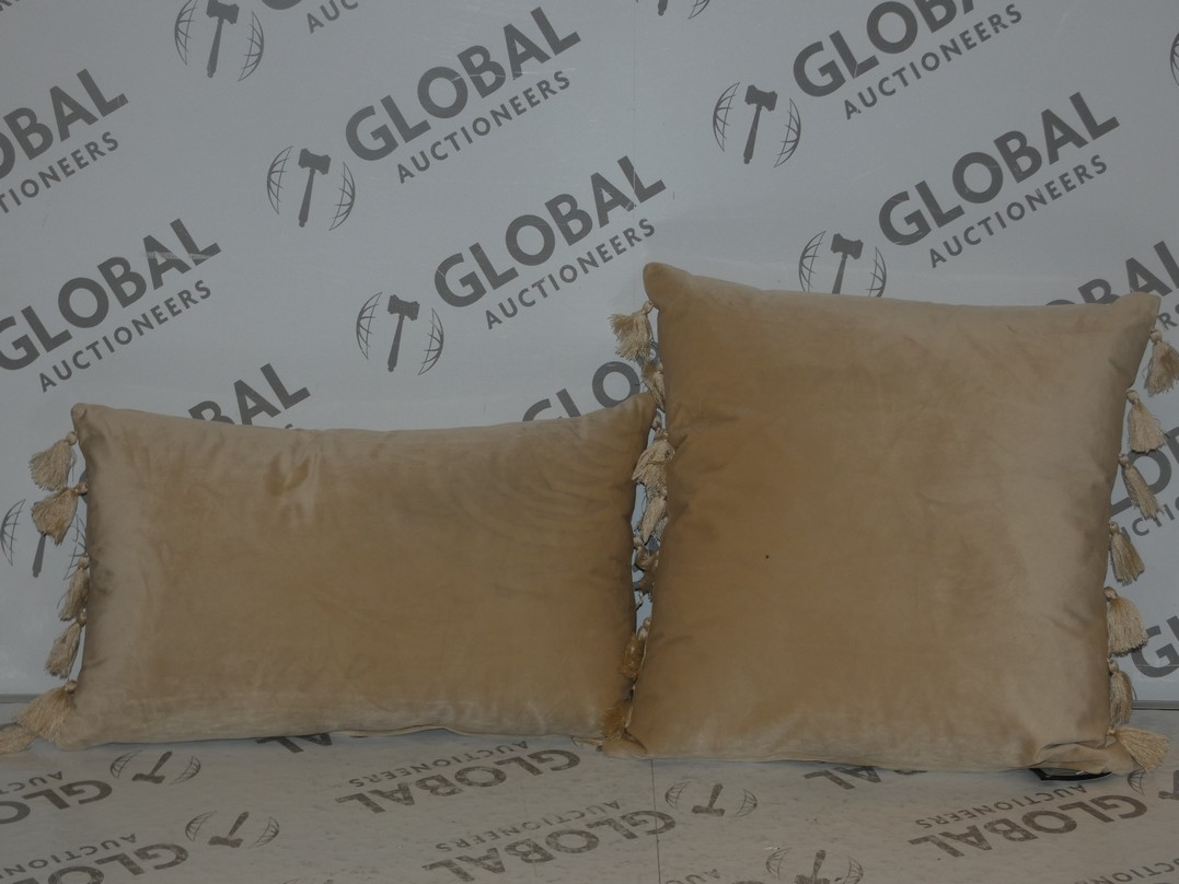 Lot 70 - Lot to Contain 3 Square and Rectangular Rocco Scatter Cushions (11008)