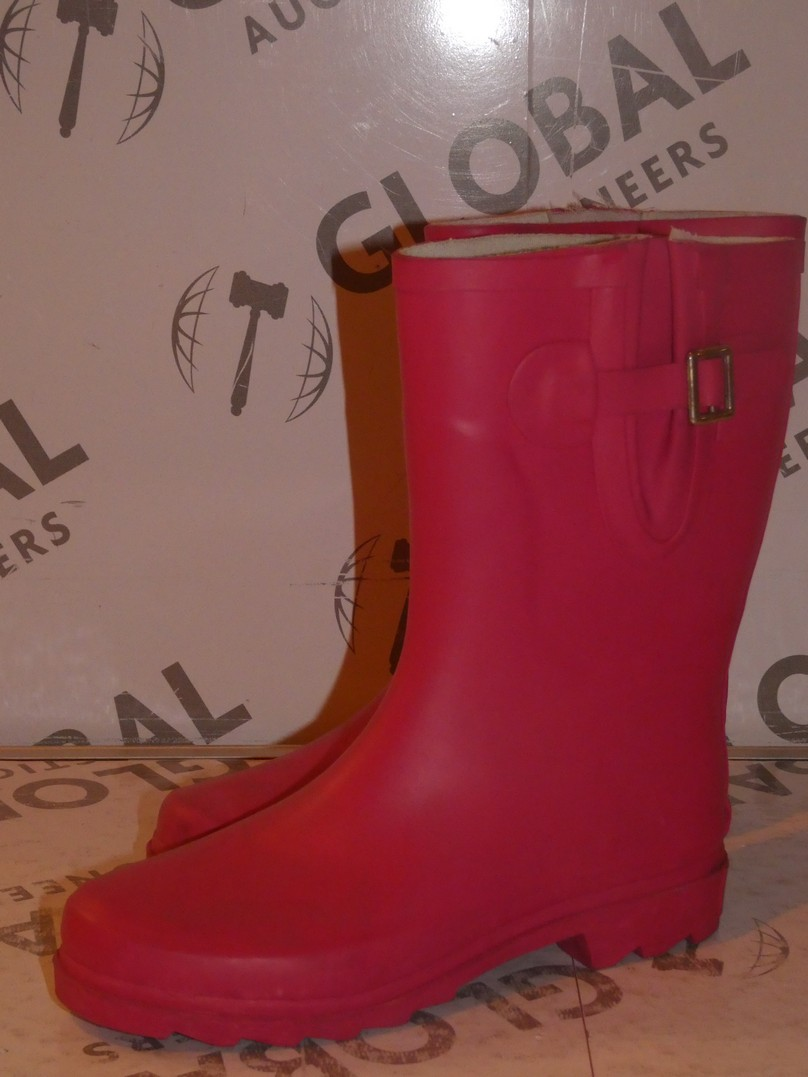 Lot 93 - Brand New Pair of Oufan Size EU37 Hot Pink Wellingtons Boots