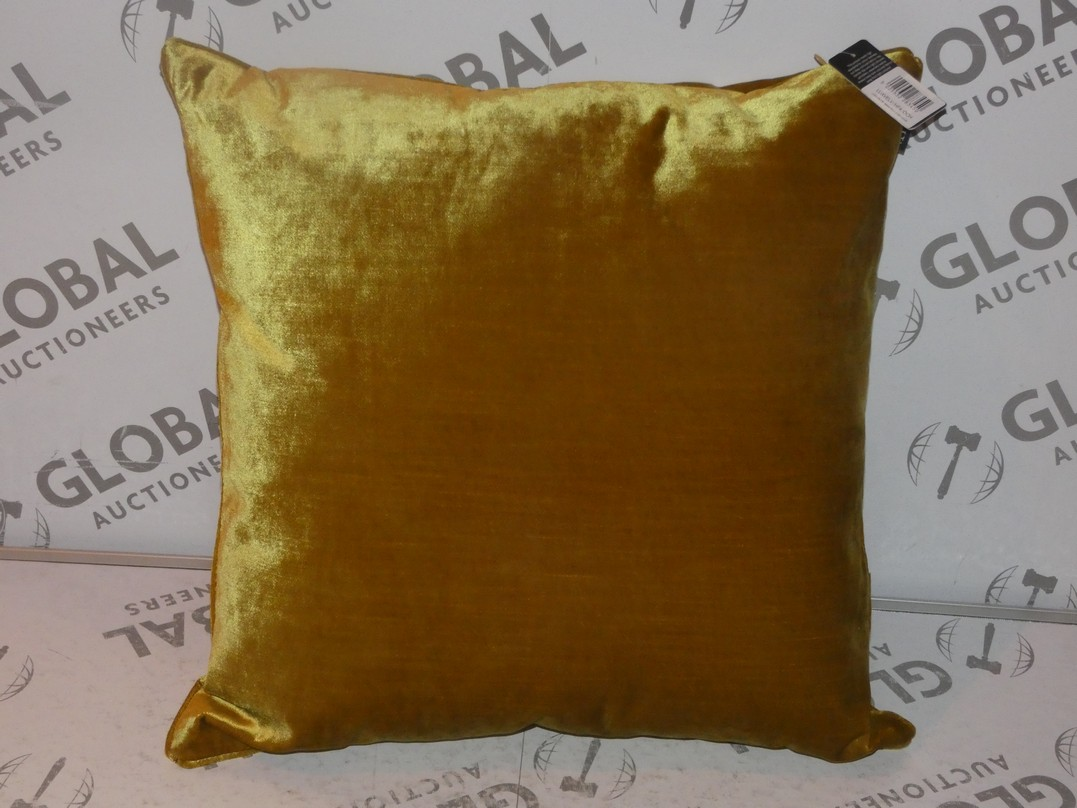 Lot 98 - Lot to Contain 3 Luxe Velvet Paoletti Gold Designer Scatter Cushions Combined RRP £105