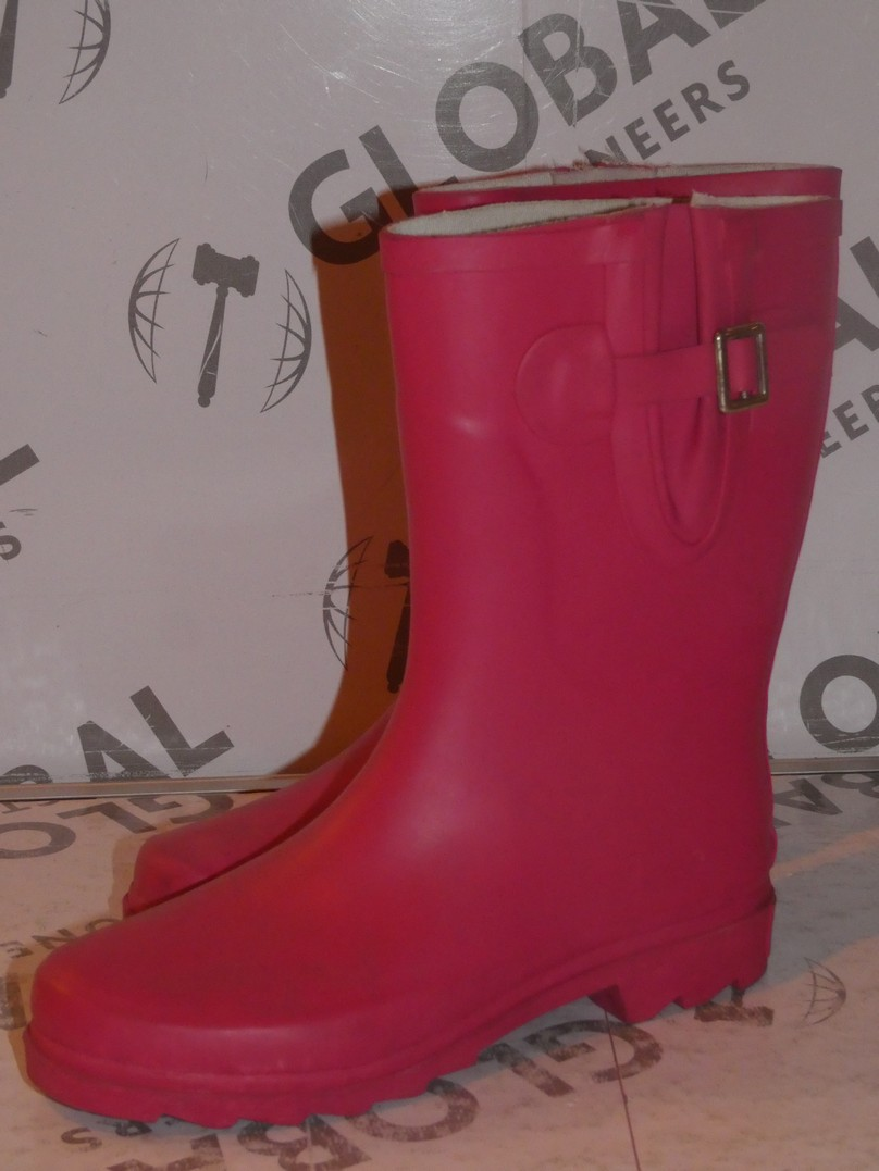 Lot 91 - Brand New Pair of Oufan Size EU37 Hot Pink Wellingtons Boots