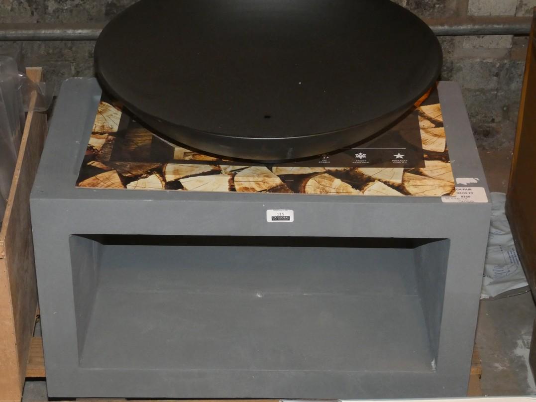 Lot 115 - Firefly Rectangular Fire Bowl Garden Firepit RRP £100 (BLET6193)(8260)