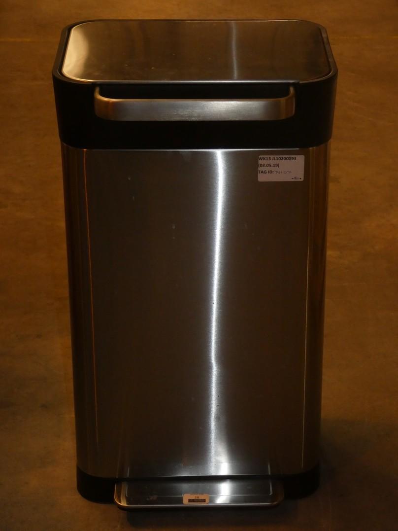 Lot 28 - Joseph Joseph Intelligent Waste 90L Titan Trash Compacter Bin in Stainless Steel RRP £180 (741071)