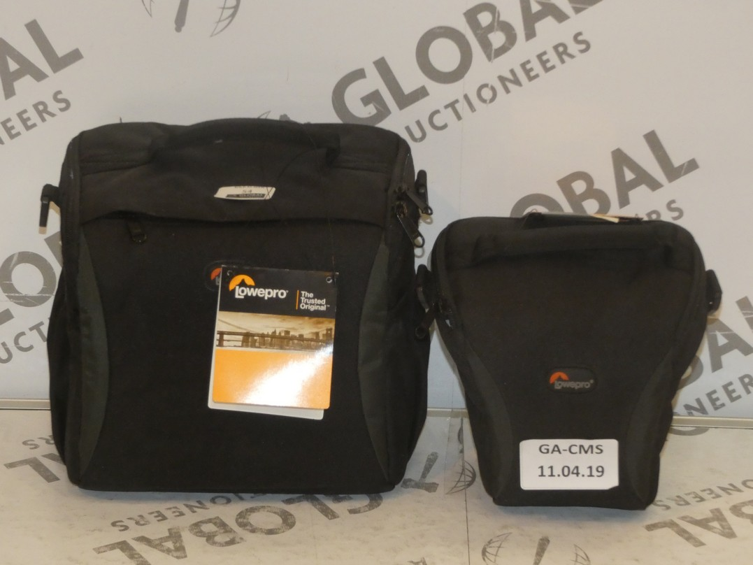 Lot 54 - Lot to Contain 3 Assorted Small and Large Lowepro SLR Camera and Accessory Bags