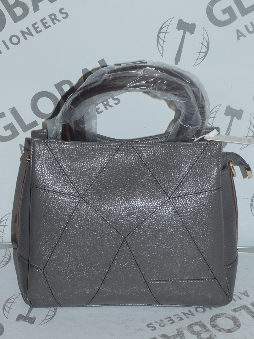 Lot 24 - Brand New Coolives Women's Grey Leather Designer Shoulder Bag RRP £50