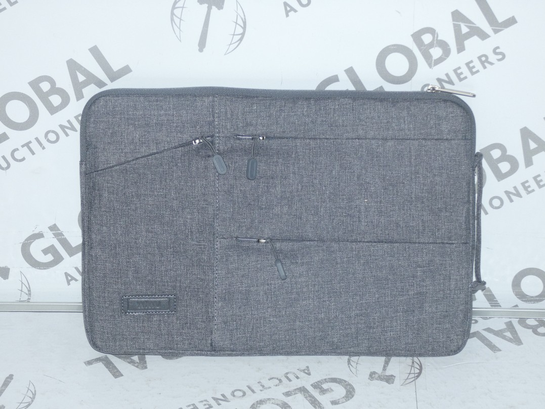 Lot 107 - Lot to Contain 5 Brand New Wiwu Grey Executive Laptop Bags