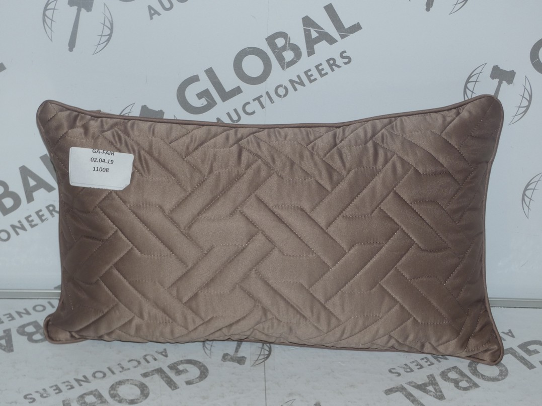 Lot 15 - Lot to Contain 2 Rectangular Embossed Scatter Cushions (11309)